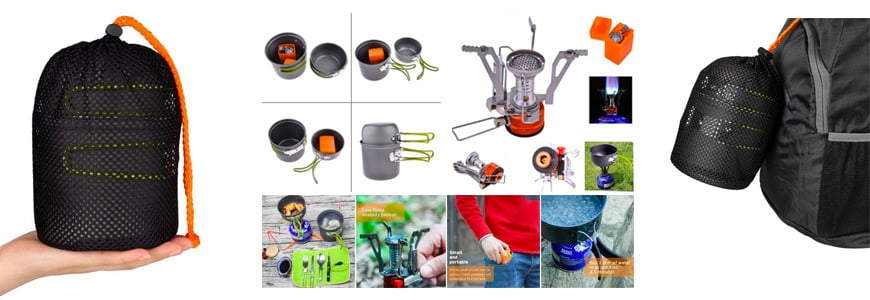 The Ultralight Portable Outdoor Pot Pan & Stove Set with Piezo Ignition
