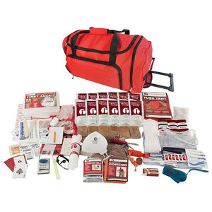 1 Person 72-Hour Elite Emergency Preparedness Survival Kit - Red Wheel Bag