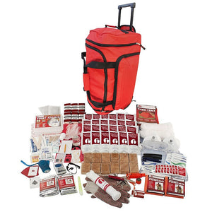 2 Person Elite 72-Hour Emergency Preparedness Survival Kit - Red Wheel Bag