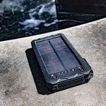 Stealth Angel 20,000 mAh Solar Charger w/ Fire Starter and Twin Flashlight