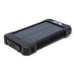 Stealth Angel 10,000mAH Waterproof / Shockproof Solar Dual-USB Charger and LED Light