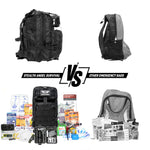 2 Person Emergency Preparedness Kit /  Black Survival Backpack  (72 Hours) Stealth Angel Survival