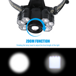 Stealth Angel SA-TRI7 High Power 5-Mode LED Waterproof Headlamp Kit