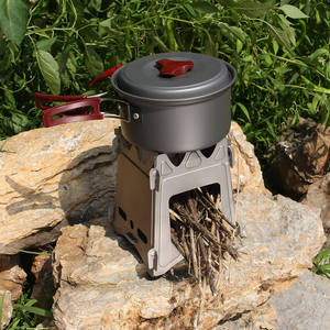 Stealth Angel Stainless Steel Square Wood Burning Stove Lightweight And Compact