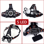 Stealth Angel SA-HLX5 High Power 4-Mode LED Waterproof Headlamp Kit