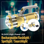 SL2400 High-Power LED Rechargeable Flashlight / Spotlight / Searchlight