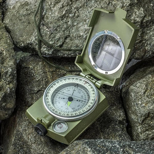 MLC1 Professional Military Lensatic Sighting Metal Compass with Carrying Pouch