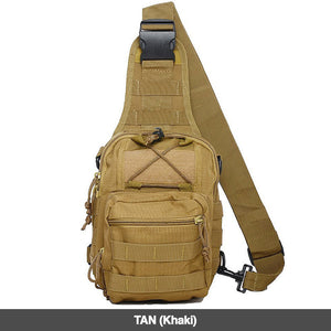 Tan Military Style Outdoor Compact Shoulder Sling Backpack