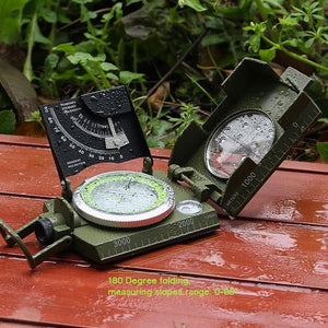 MLC2 Professional Military Lensatic Sighting Metal Compass with Inclinometer and Carrying Pouch