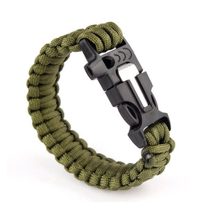 Paracord Bracelet 550lbs with Whistle & Fire Starter