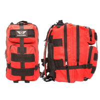 2 Person Emergency Preparedness Kit /  Red Survival Backpack  (72 Hours) Stealth Angel Survival
