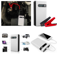 Battery ResQ - Portable Car Battery Jump Starter (12V 12000mah 400A), USB Power Bank, LED Flashlight
