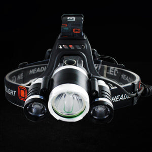 Stealth Angel SA-HLX3 High Power 4-Mode LED Waterproof Headlamp Kit