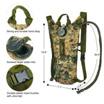 Stealth Angel HP1 Hydration Backpack with 3L Bladder / Reservoir (Leakproof, BPA-Free)