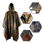 Stealth Angel SA-RC1 Military Style Hooded Rain Poncho & Multi-Purpose Waterproof Shelter / Tent / Picnic Mat