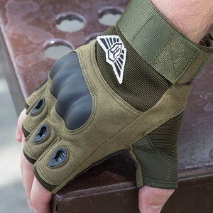 SA-TG2 Military Style Hard Knuckle Tactical Gloves (Half Finger)