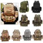 Stealth Angel SA-3M50 50L Backpack Daypack w/ 3 MOLLE Bags Large Military Style Outdoor