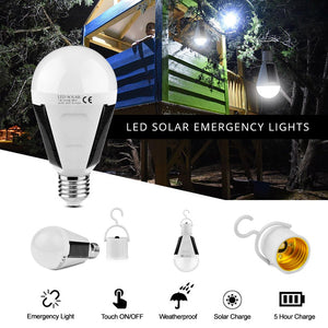 Solar Rechargeable 12W LED Light Bulb