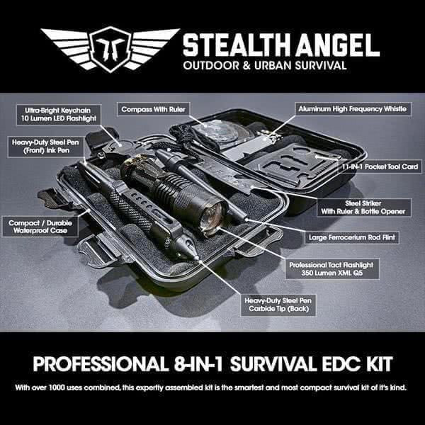 Stealth Angel Compact Survival Edc Everyday Carry Kit