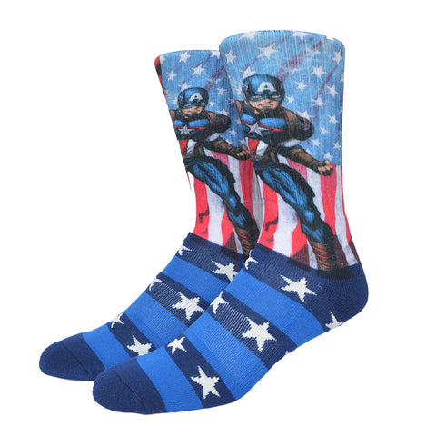Captain America USA Dress Socks