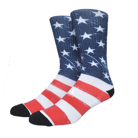 American Flag USA Crew Socks