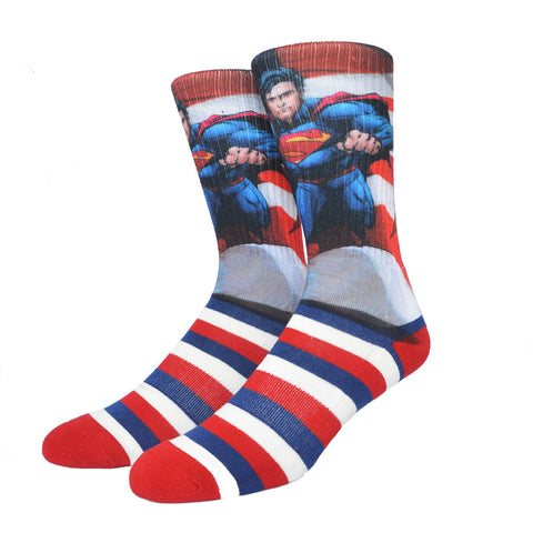 Superhero Superman America USA Socks