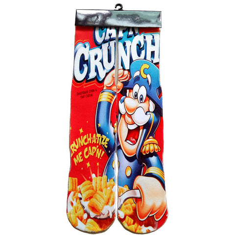 Cap'n Crunch Breakfast Cereal Crew Socks