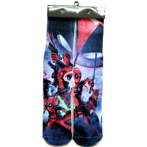 Deadpool Superhero Crew Socks