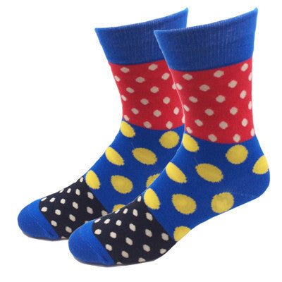 Colorful & Patterned Dress Socks (11 Colors/Patterns)