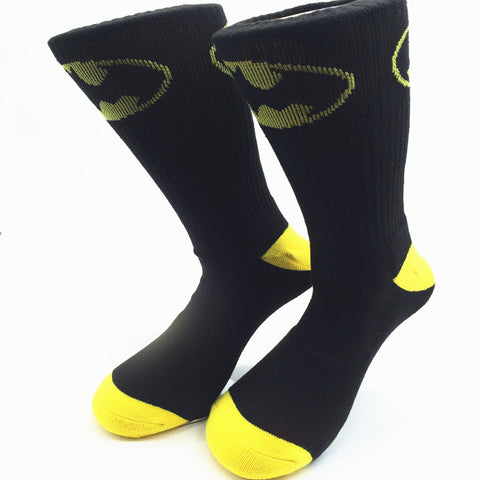Batman Dress Socks - Black and Yellow Bat Symbol