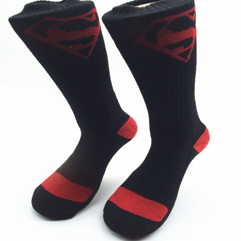Black & Red Superman Dress Socks