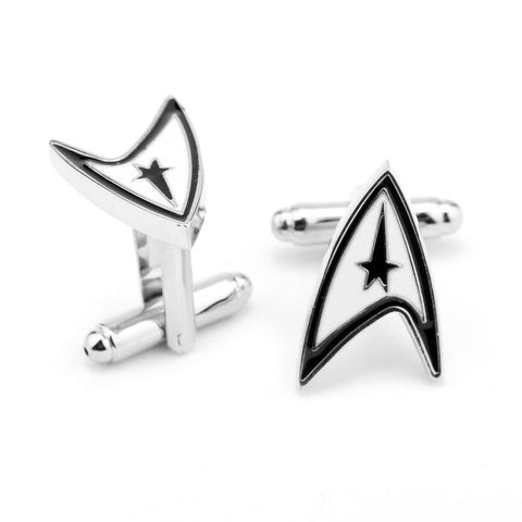 Star Trek Silver Cuff Links - Boldly Go Where No Man Has Before