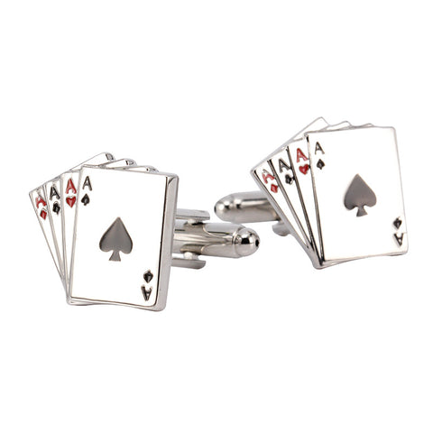 Aces Poker Playing Card Cuff Links
