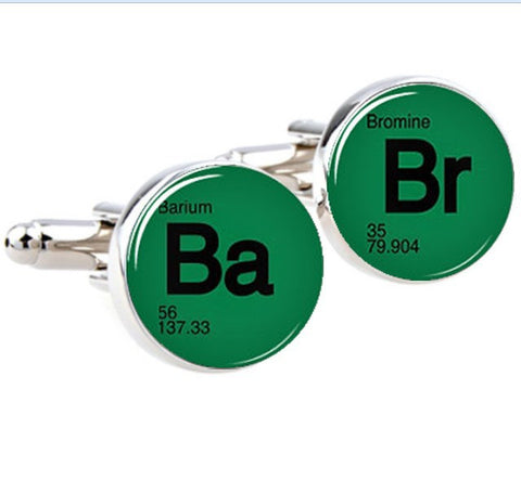 Breaking Bad Cuff Links - Silver Plated Br Ba