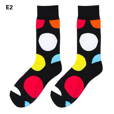 Bright Color Dots Men's Dress Socks