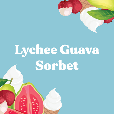 Lychee Guava Sorbet