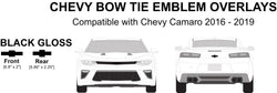 Camaro Emblem Logo Overlays - Compatible with/Replacement for - Chevy Camaro 2016 - 2019