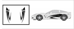 Racing Side Graphics - Compatible with/Replacement for - Chevrolet Corvette ZR1 2005-2013