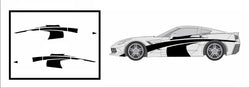 Racing Side Graphics - Compatible with/Replacement for - Chevrolet Corvette Stingray C7 2014-2019