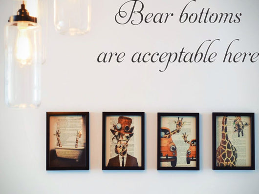 Bear bottoms are acceptable here   Car or Wall Vinyl Decal - Fusion Decals