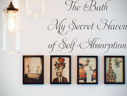 The Bath: My Secret Haven of Self-Absorption Car or Wall Vinyl Decal - Fusion Decals