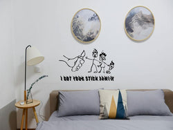 I got your stick Family on fire Cut Vinyl Wall Decal - Fusion Decals