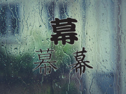 Curtain Kanji Symbol Style #2 Die Cut Vinyl Decal Sticker - Fusion Decals