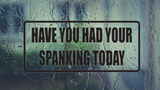 Have You Had Your Spanking Today Wall Decal - Removable - Fusion Decals