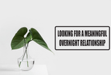Looking for a Meaningful Overnight Relationship Wall Decal - Removable - Fusion Decals