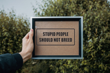 Stupid People Should Not Breed Wall Decal - Removable - Fusion Decals