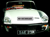 No Dickheads Wall Decal - Removable - Fusion Decals