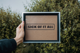 Sick of it All Wall Decal - Removable - Fusion Decals