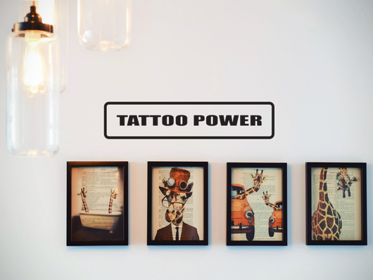 Tattoo Power Wall Decal - Removable - Fusion Decals