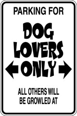 Parking for Dog Lovers Only Sign  - Car or Wall Decal - Fusion Decals